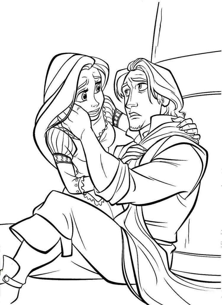 Printable Free Disney Princess Tangled Rapunzel Colouring