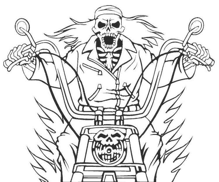 picture about Printable Ghost named Printable Ghost Rider Coloring Internet pages - Coloring Suggestions
