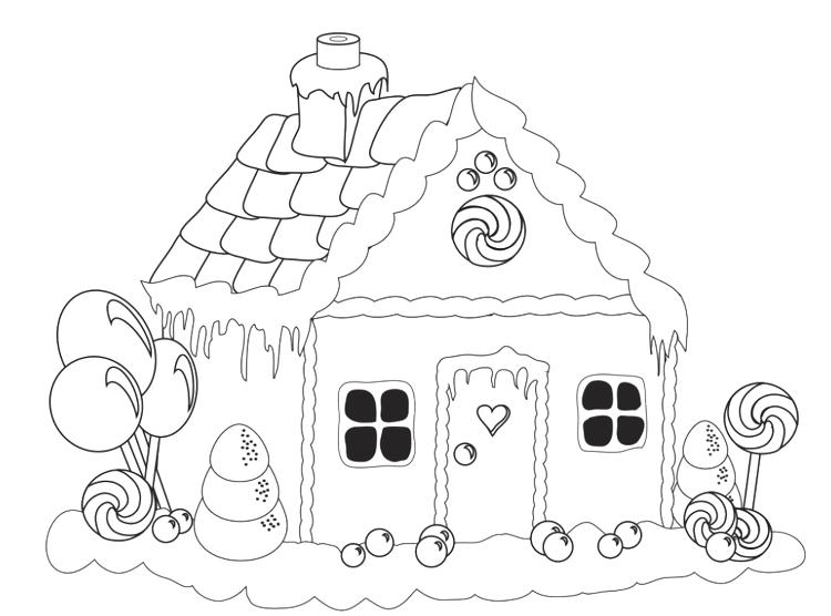 picture about Printable Gingerbread House Coloring Pages named Printable Gingerbread Residence Coloring Webpages For Children