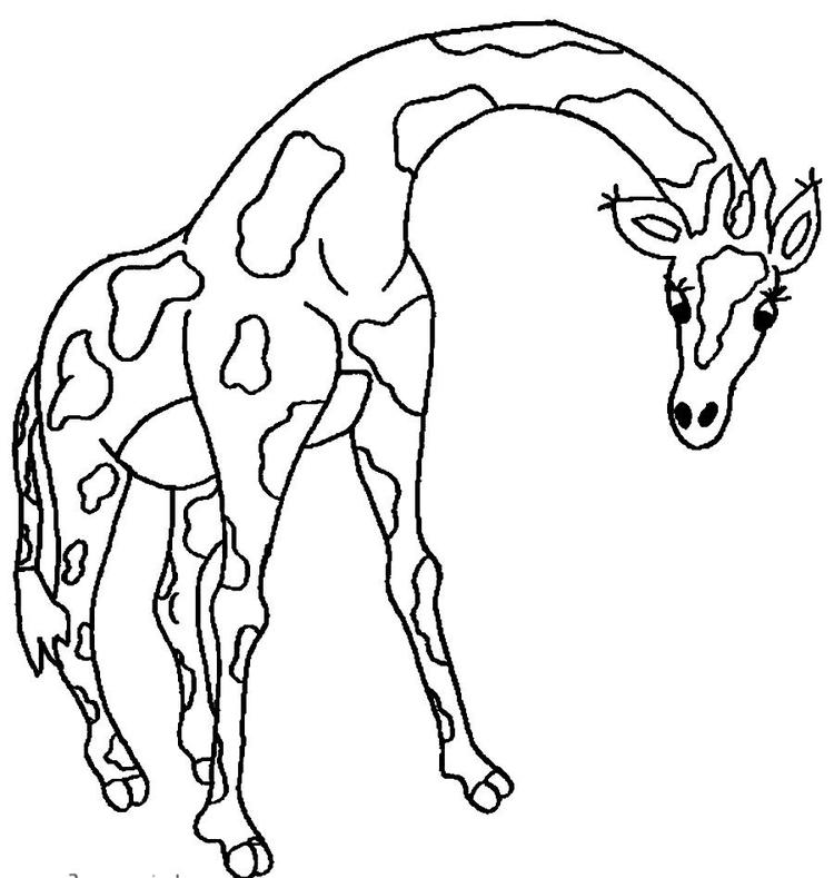 Printable Giraffe Coloring Pages For Children