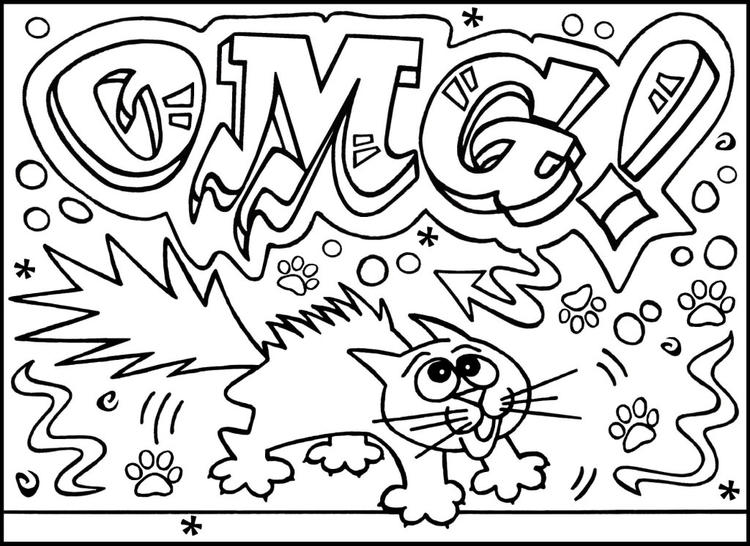 Printable Graffiti Coloring Pages For Kids