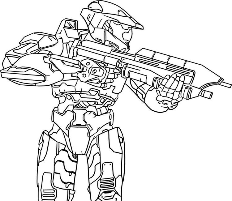 Printable Halo Battle Coloring Pages