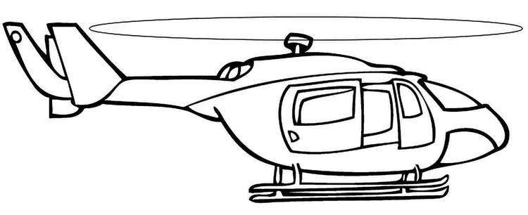 Printable Helicopter Coloring Pages 2