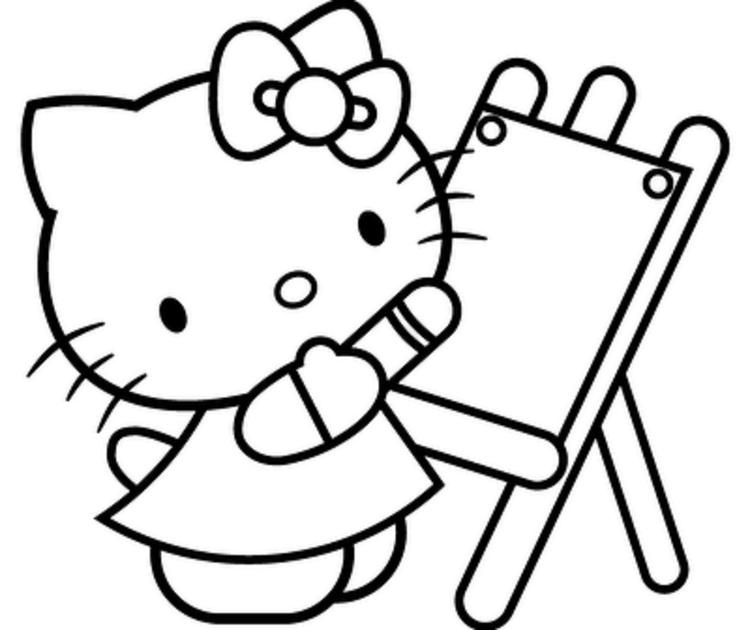 Printable Hello Kitty Back To School Coloring Pages 1