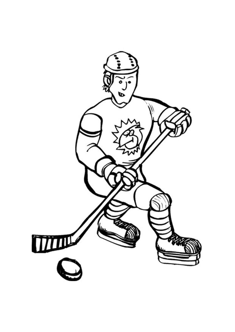 Printable Hockey Coloring Pages