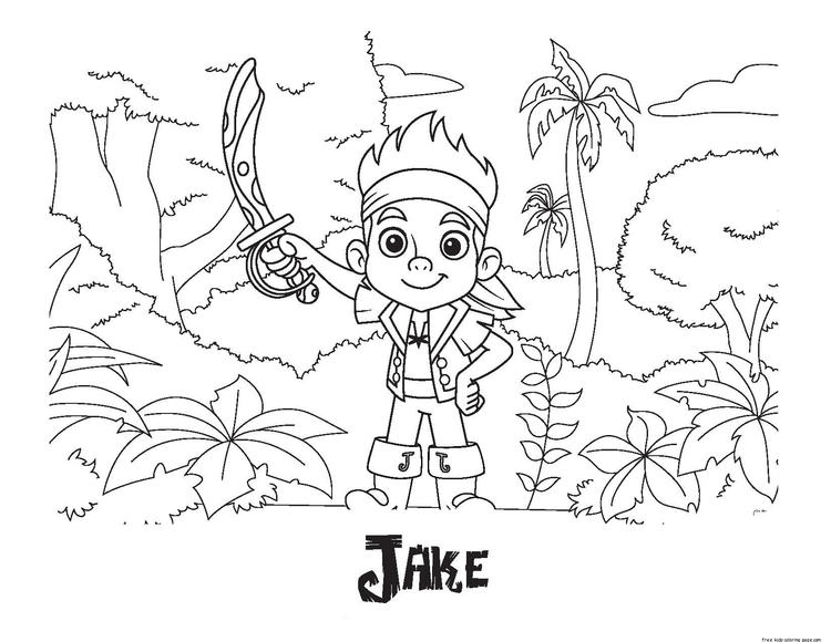 Printable Jake And The Never Land Pirates Coloring Pages