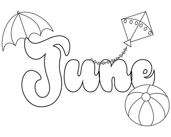Printable June Coloring Pages