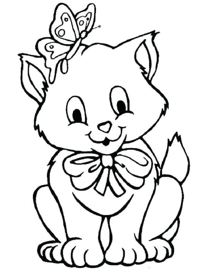Printable Kittens Coloring Pages