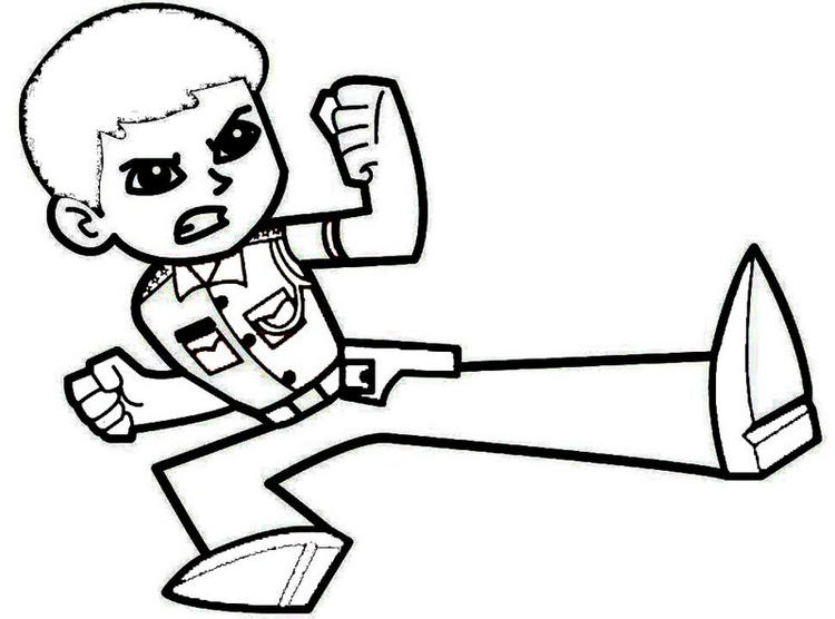 Printable Little Singham Coloring Page