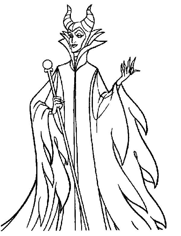 Printable Maleficent Coloring Pages