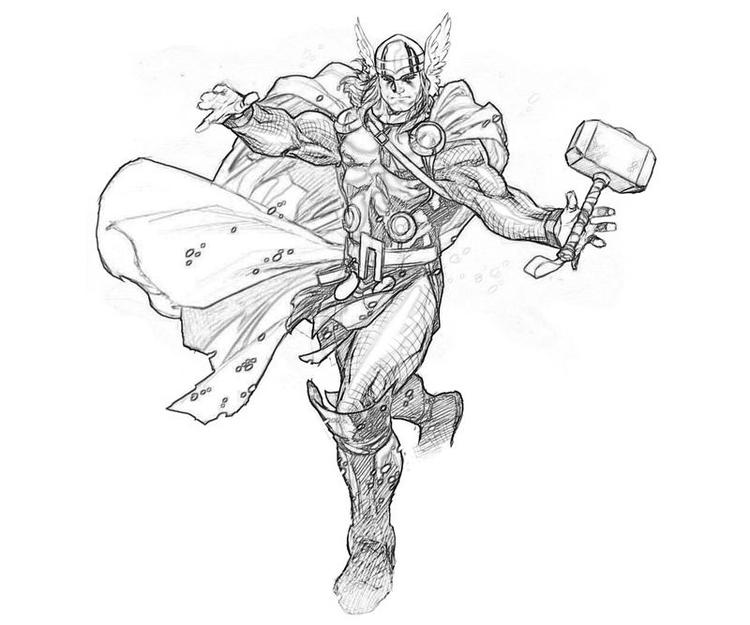 Printable Marvel Alliance Thor Coloring Pages
