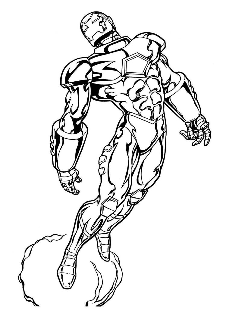 Printable Marvel Coloring Pages 1