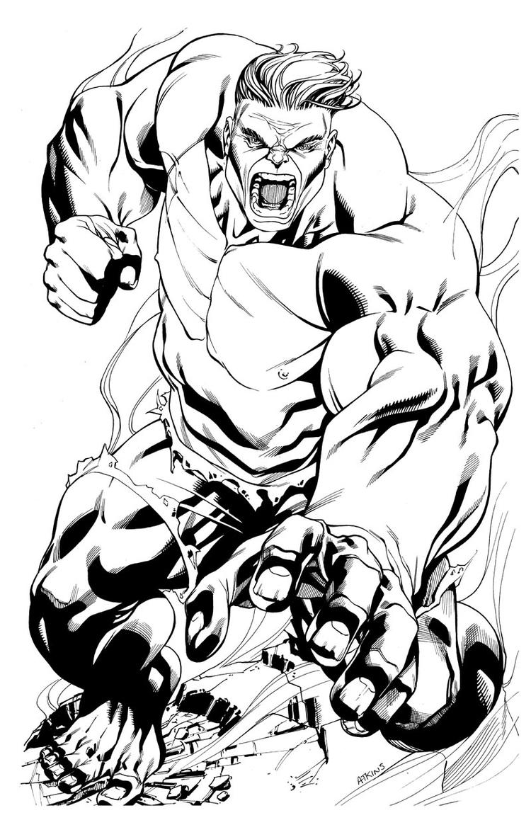 Printable Marvel Coloring Pages Hulk 1