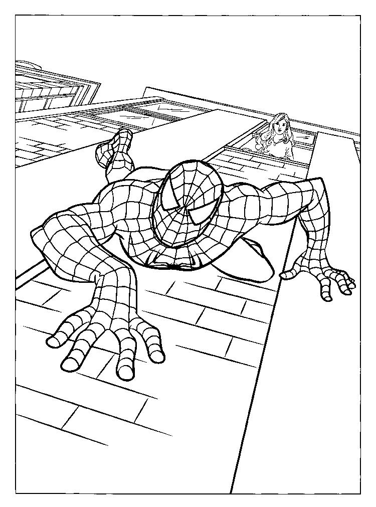 Printable Marvel Coloring Pages Spiderman 2