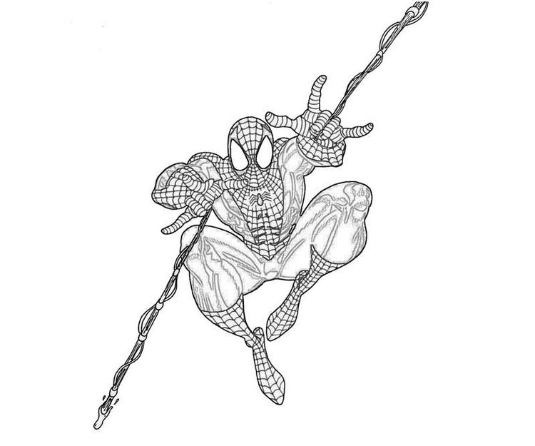 Printable Marvel Coloring Pages Spiderman