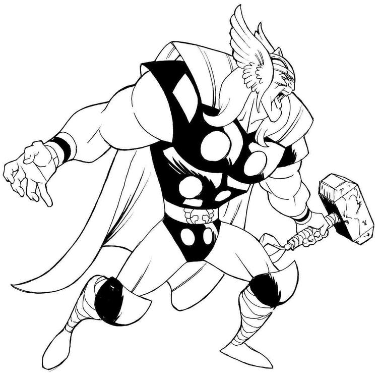 Printable Marvel Coloring Pages Thor 3
