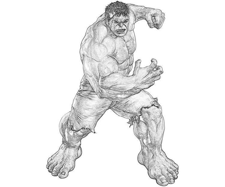 Printable Marvel Ultimate Alliance Hulk Coloring Pages
