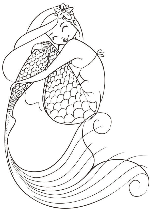 Printable Mermaid Coloring Pages For Kids