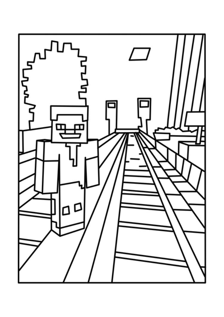 Printable Minecraft Coloring Pages For Kids