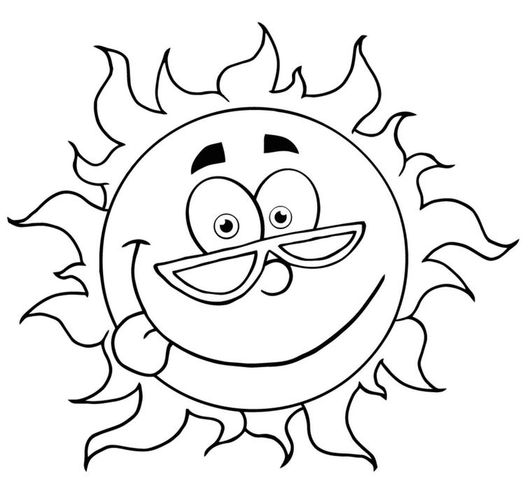 Printable Modist Sun Coloring Sheets For Little Angles