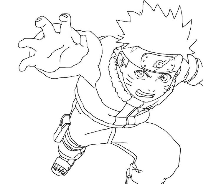 Printable Naruto Coloring Pages 1