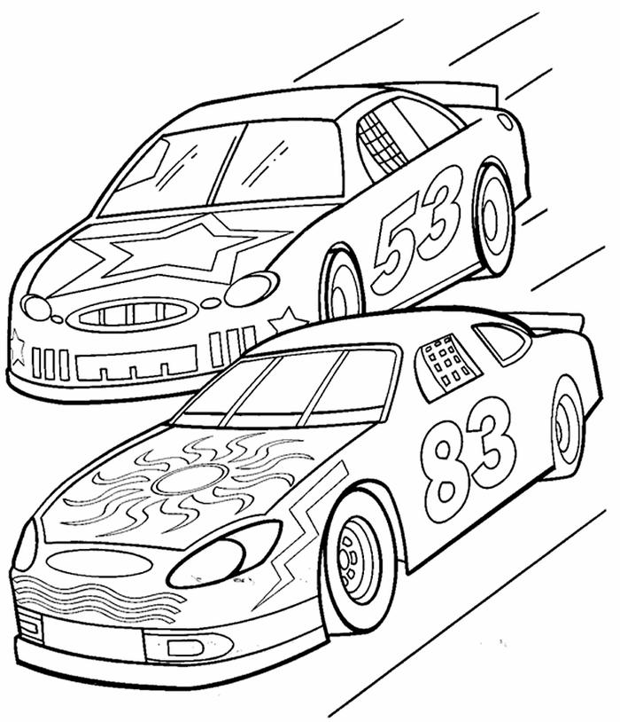 Printable Nascar Coloring Pages