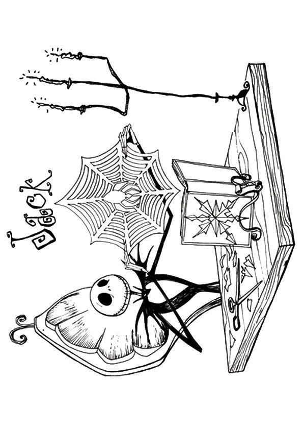 Printable Nightmare Before Christmas Coloring Pages For Kids