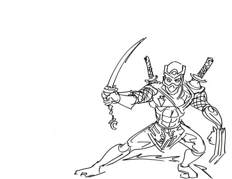 Printable Ninja Coloring Pages