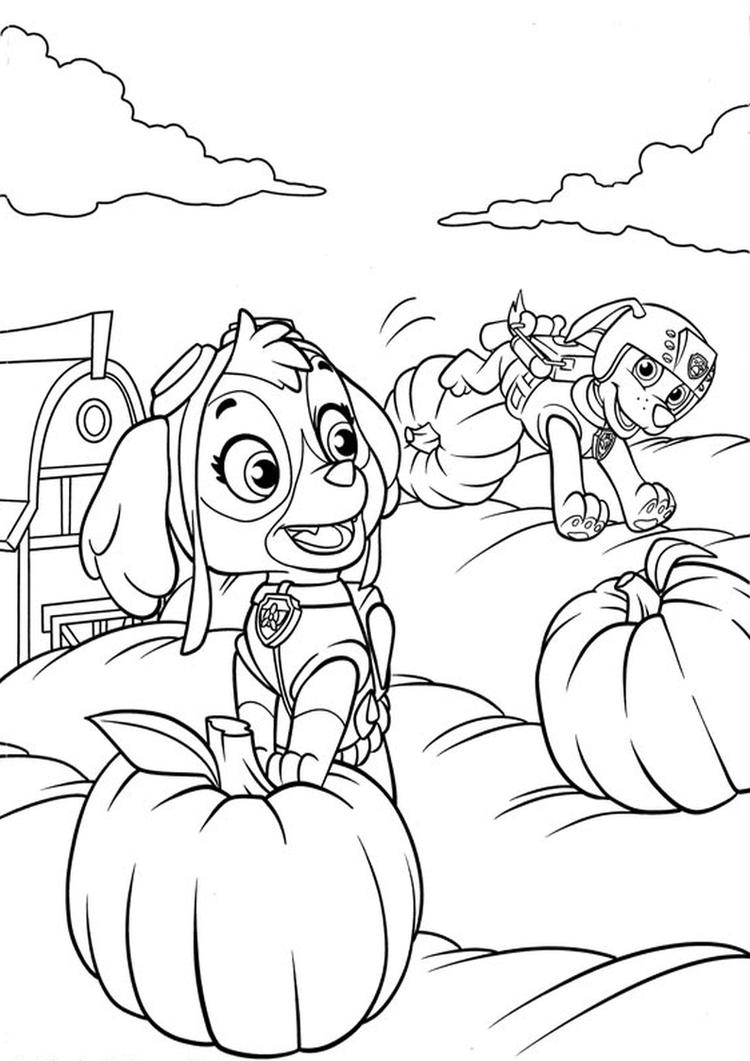 Printable Paw Patrol Coloring Pages For Kids
