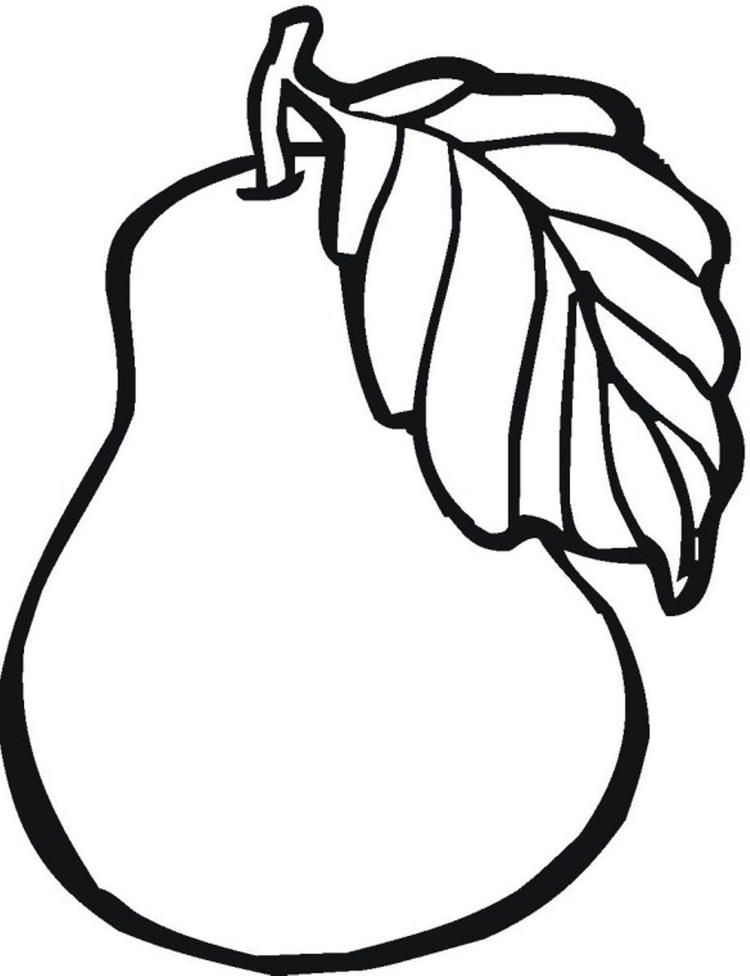 Printable Pear Fruit Coloring Pages