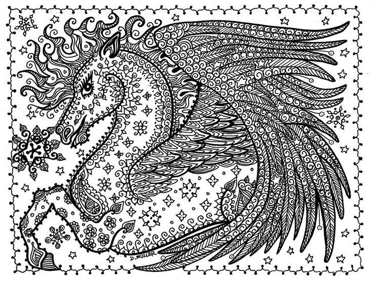 Printable Pegasus Coloring Pages For Adults