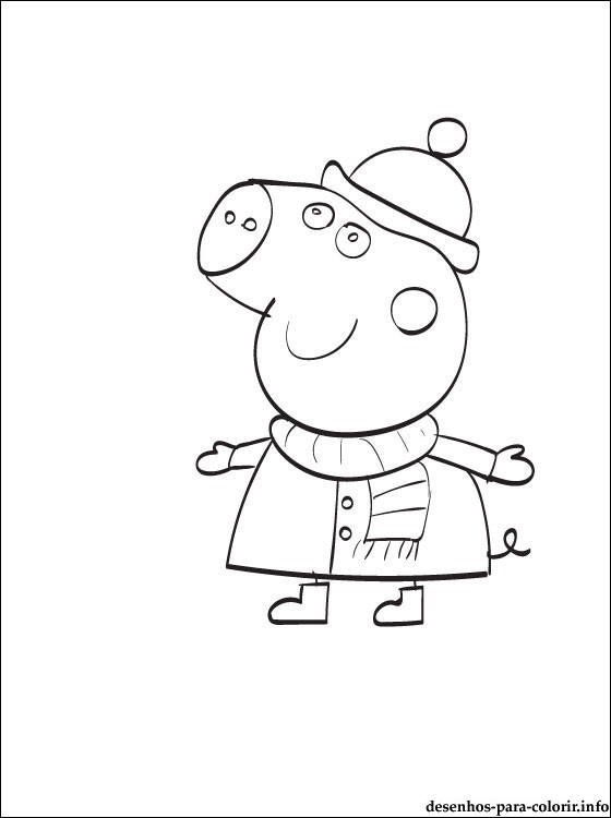 Printable Peppa Pig And Friends Coloring Pages 1