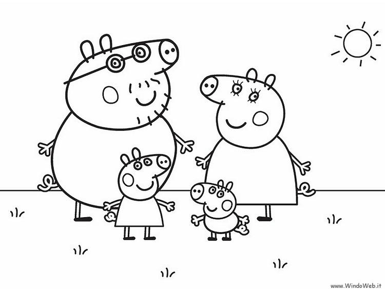 Printable Peppa Pig Birthday Coloring Pages