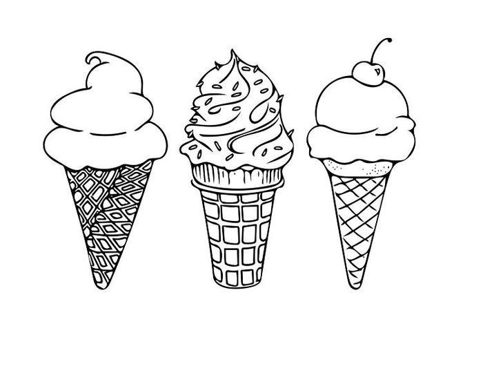 Printable Pig Ice Cream Coloring Pages