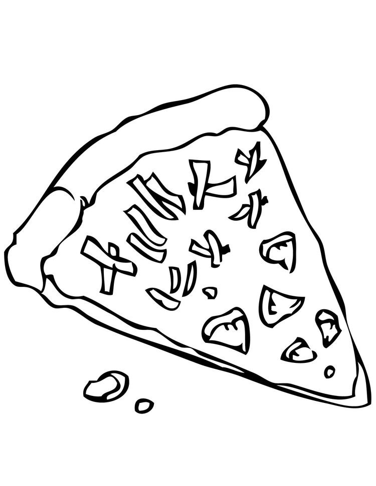 Printable Pizza Coloring Pages For Kids