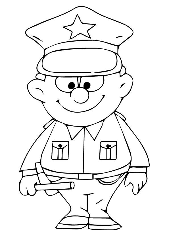Printable Police Coloring Pages For Kids