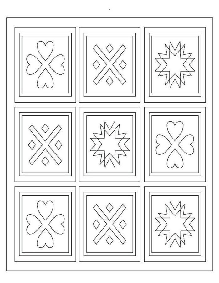 Printable Quilt Pattern Coloring Pages