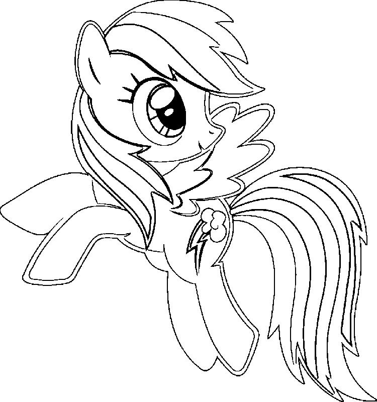 graphic about Rainbow Dash Printable titled Printable Rainbow Sprint Coloring Internet pages - Coloring Guidelines