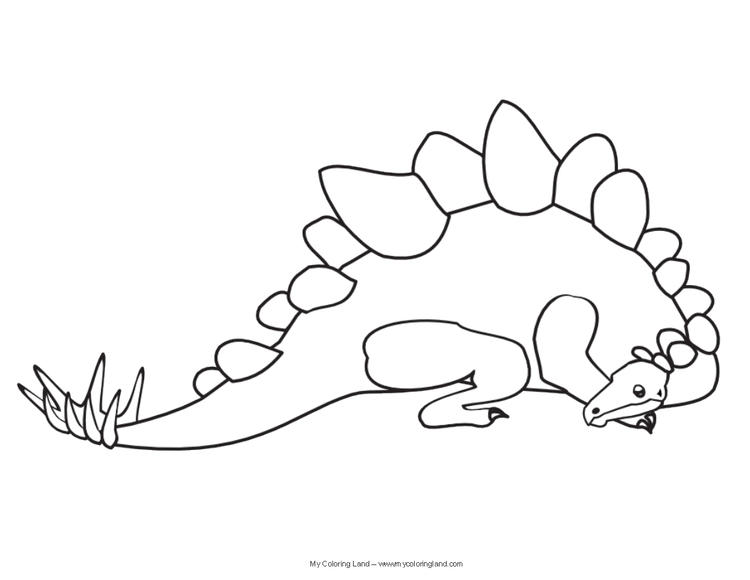 Printable Realistic Dinosaurs Coloring Pages