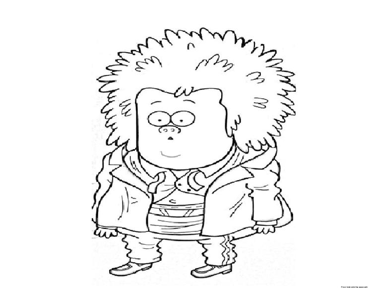 Printable Regular Show Mucle Man Coloring Pages