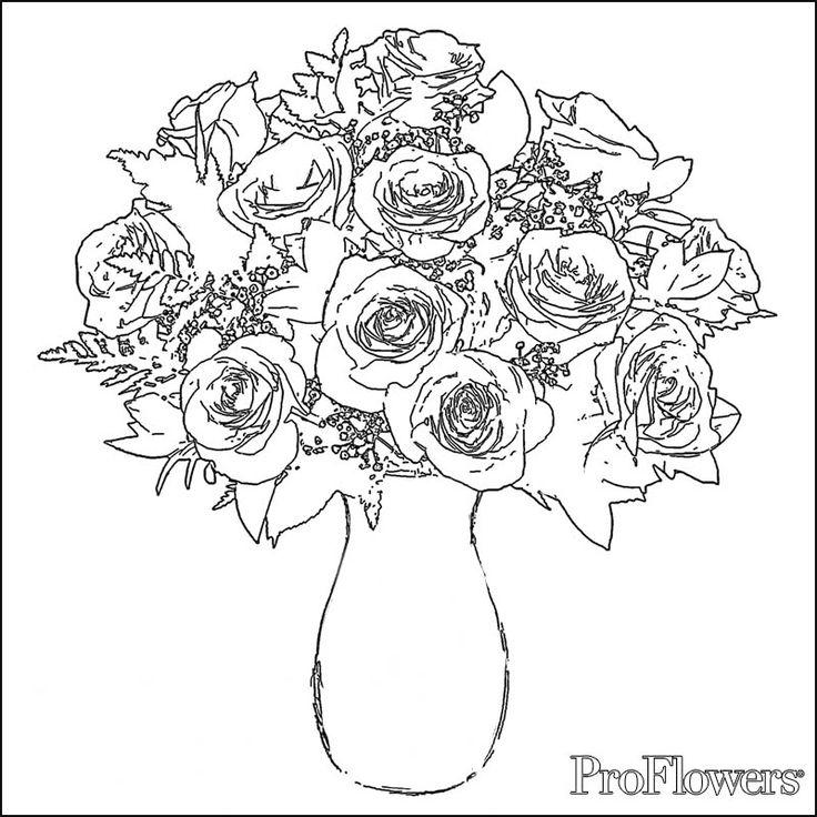 Printable Rose Coloring Pages Fo Adults