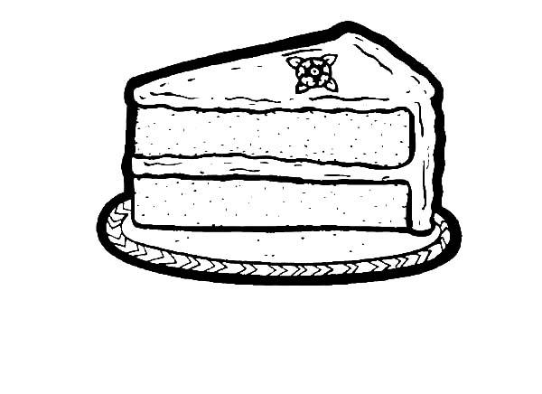 Printable Slice Cake Coloring Pages