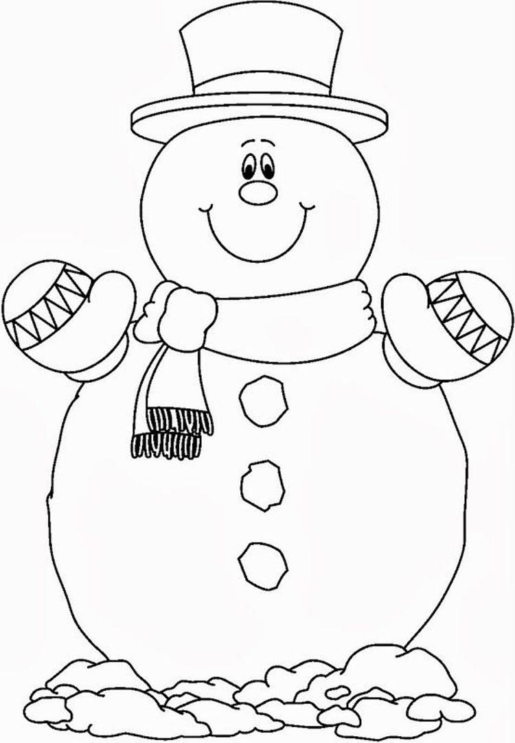 Printable Snowman Coloring Pages Throughout Omeletta Me