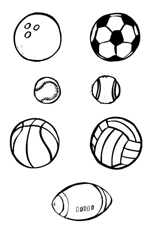 Printable Sports Coloring Pages