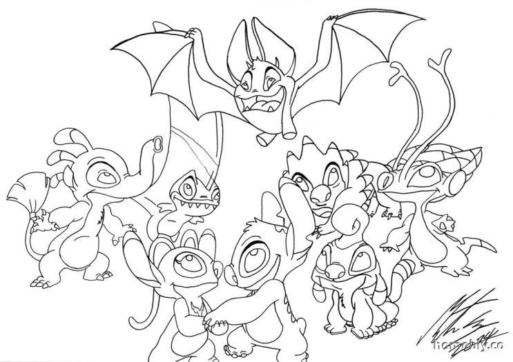 Printable Stitch Coloring Pages Ohana