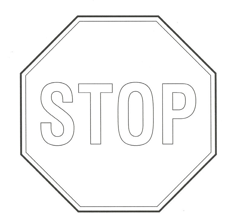 Printable Stop Sign Coloring Pages