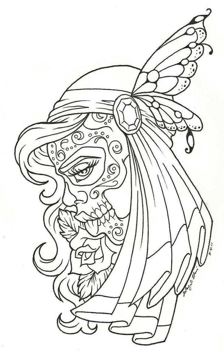 Printable Tattoo Coloring Pages For Adults