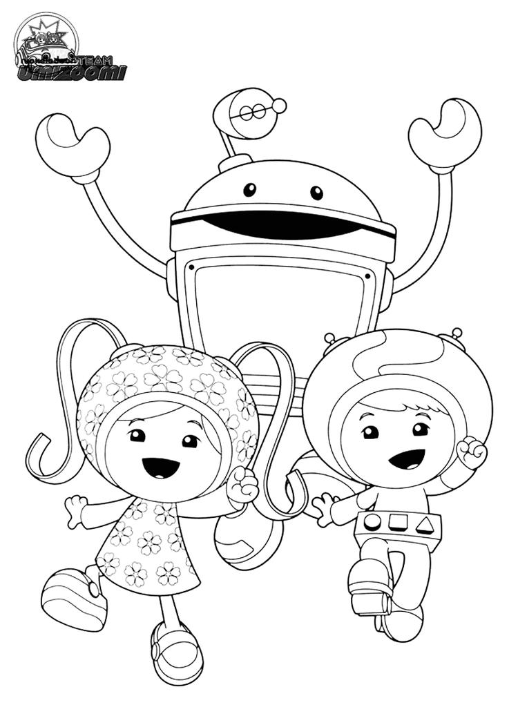 Printable Team Umizoomi Coloring Pages