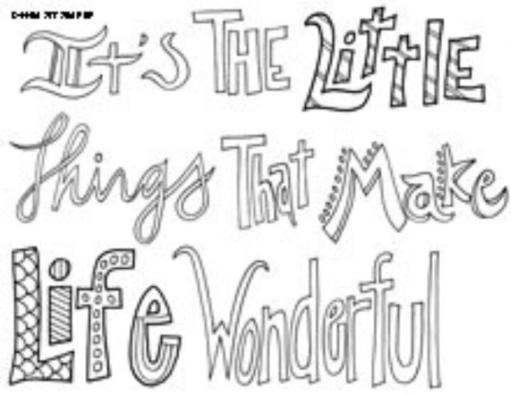Printable Teen Quote Coloring Pages 1