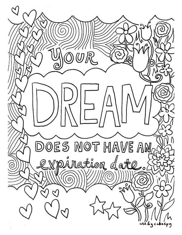 Printable Teen Quote Coloring Pages 2